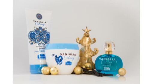 Helan Vanilia Oolong Parfüm, Testápoló, Tusfürdő csomag