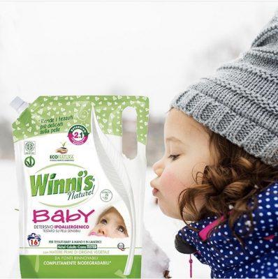 Winni's öko babamosószer babaruhákra és érzékenybőrű emberek számára