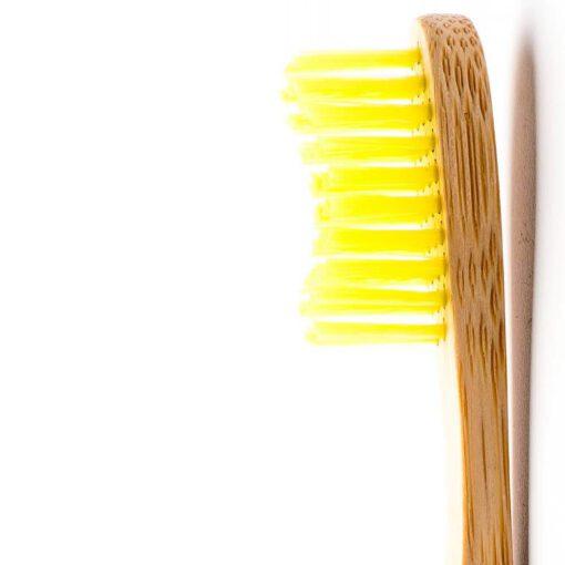 felnőtt bambusz fogkefe sárga